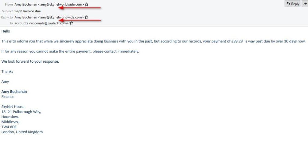fake email 2